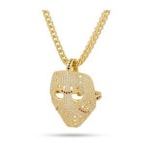 14k Gold Hockey Mask Necklace